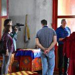 Актер, президент Забайкальского кинофестиваля Александр Михайлов в Цугольском дацане