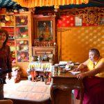 Елена Демидова и Цырен Дондукбаев, Дид Хамбо Лама по Забайкальскому краю, перед интервью.