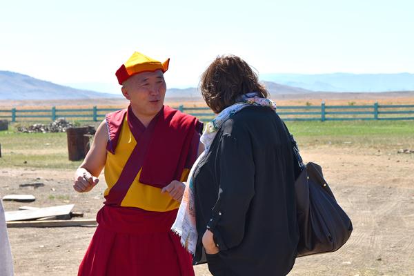 Буда лама Цыденов и Елена Демидова