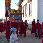 Церемония сопровождения Эрдэни Мунхэ Бэе (Драгоценного Неиссякаемого Тела) Пандито Хамбо Ламы Этигэлова в Согчен дуган к празднику Дончод хурал